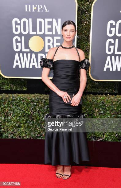 Actor Caitriona Balfe attends The 75th Annual Golden Globe Awards at The Beverly Hilton Hotel on January 7 2018 in Beverly Hills California