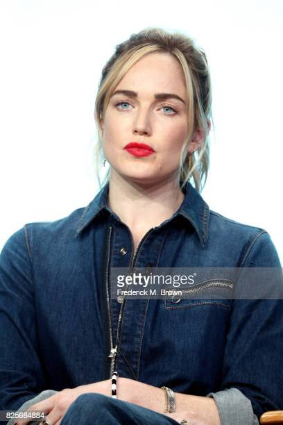 Actor Caity Lotz of 'DC's Legends of Tomorrow' speaks onstage during the CW portion of the 2017 Summer Television Critics Association Press Tour at...