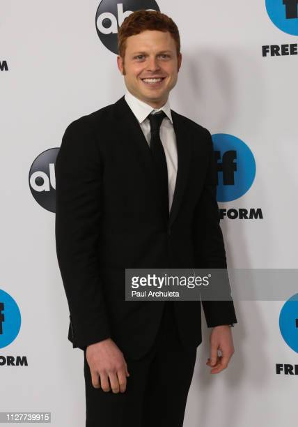 Actor Caleb Foote attends the Disney and ABC Television 2019 TCA Winter press tour at The Langham Huntington Hotel and Spa on February 05 2019 in...