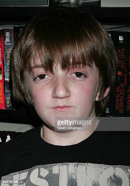 Actor Caleb Guss attends Anchor Bay Entertainment's Jason Voorhees reunion at Dark Delicacies Bookstore on February 3 2009 in Burbank California