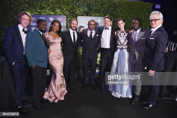 Actor Caleb Landry Jones, actor Lil Rel Howery, Betty Gabriel, producer Sean McKittrick, director Jordan Peele, producer Jason Blum, actor Allison...
