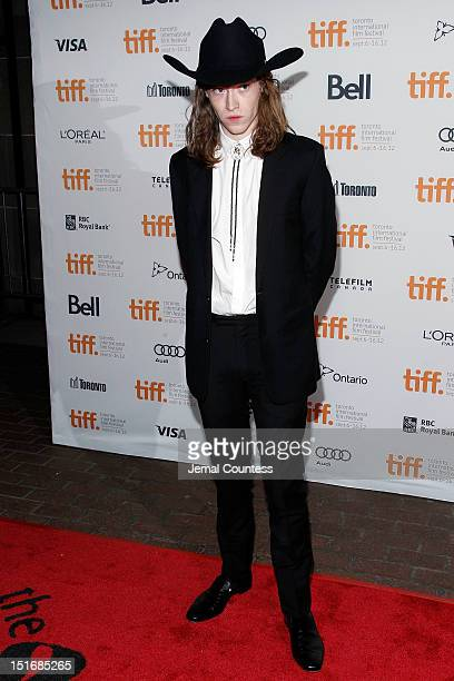 Actor Caleb Landry Jones attends the Byzantium premiere during the 2012 Toronto International Film Festival at Ryerson Theatre on September 9 2012 in...
