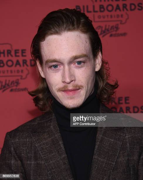Actor Caleb Landry Jones attends the premiere of Three Billboards Outside Ebbing Missouri at Neuehouse Hollywood in Los Angeles on November 3 2017 /...