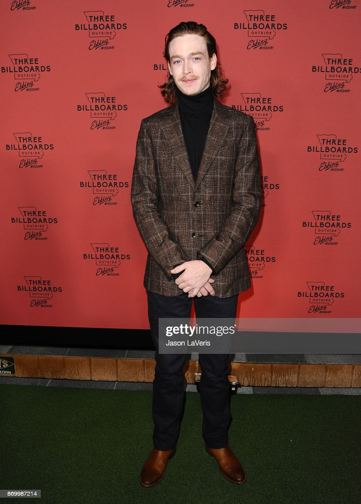 Actor Caleb Landry Jones attends the premiere of 'Three Billboards Outside Ebbing, Missouri' at NeueHouse Hollywood on November 3, 2017 in Los Angeles, California.