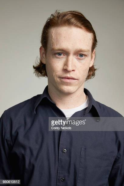 Actor Caleb Landry Jones from the film 'Friday's Child' poses for a portrait in the Getty Images Portrait Studio Powered by Pizza Hut at the 2018...