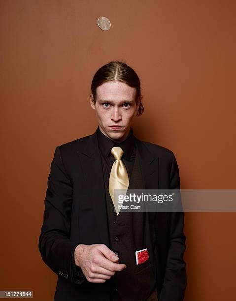 Actor Caleb Landry Jones of Antiviral poses at the Guess Portrait Studio during 2012 Toronto International Film Festival on September 11 2012 in...