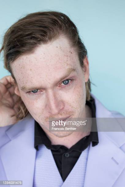 Actor Caleb Landry Jones poses for a portrait during the 74th Cannes International Film Festival, on July 14, 2021 in Cannes, France.