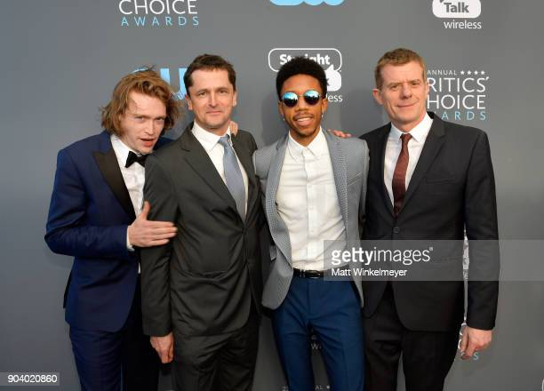 Actor Caleb Landry Jones producer Peter Czernin actor Darrell BrittGibson and producer Graham Broadbent attend The 23rd Annual Critics' Choice Awards...