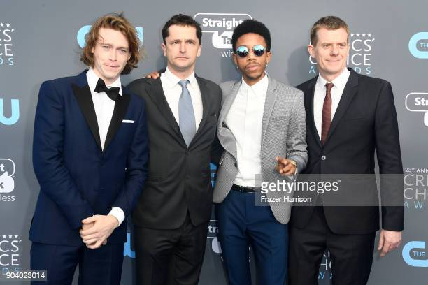 Actor Caleb Landry Jones producer Peter Czernin actor Darrell BrittGibson and producer Graham Broadbent attend The 23rd Annual Critics' Choice Awards...