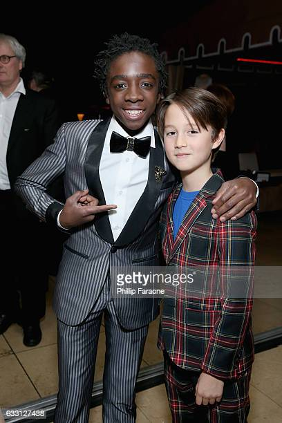 Actor Caleb McLaughlin and guest attend The Weinstein Company Netflix's 2017 SAG After Party in partnership with Absolut Elyx at Sunset Tower Hotel...