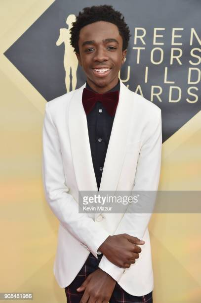 Actor Caleb McLaughlin attends the 24th Annual Screen Actors Guild Awards at The Shrine Auditorium on January 21 2018 in Los Angeles California...
