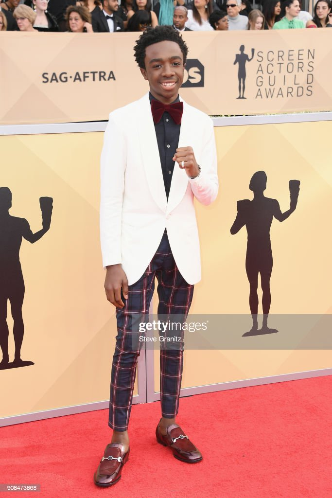 Actor Caleb McLaughlin attends the 24th Annual Screen ActorsGuild Awards at The Shrine Auditorium on January 21, 2018 in Los Angeles, California.