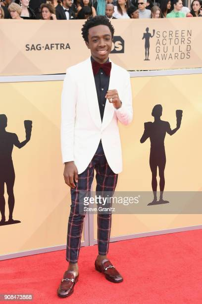 Actor Caleb McLaughlin attends the 24th Annual Screen Actors Guild Awards at The Shrine Auditorium on January 21 2018 in Los Angeles California