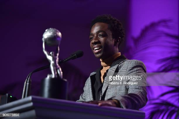 Actor Caleb McLaughlin attends the 49th NAACP Image Awards NonTelevised Award Show at The Pasadena Civic Auditorium on January 14 2018 in Pasadena...