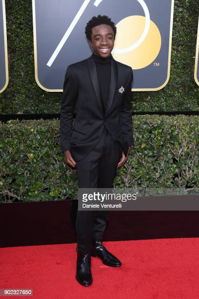 Actor Caleb McLaughlin attends The 75th Annual Golden Globe Awards at The Beverly Hilton Hotel on January 7, 2018 in Beverly Hills, California.