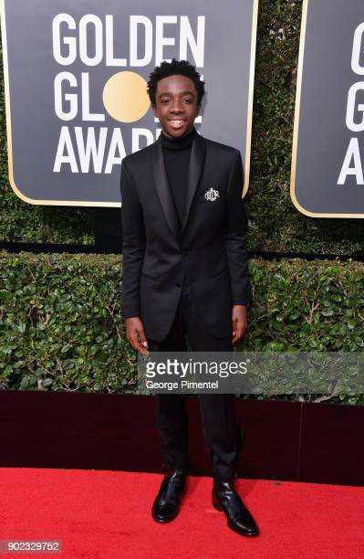 Actor Caleb McLaughlin attends The 75th Annual Golden Globe Awards at The Beverly Hilton Hotel on January 7 2018 in Beverly Hills California