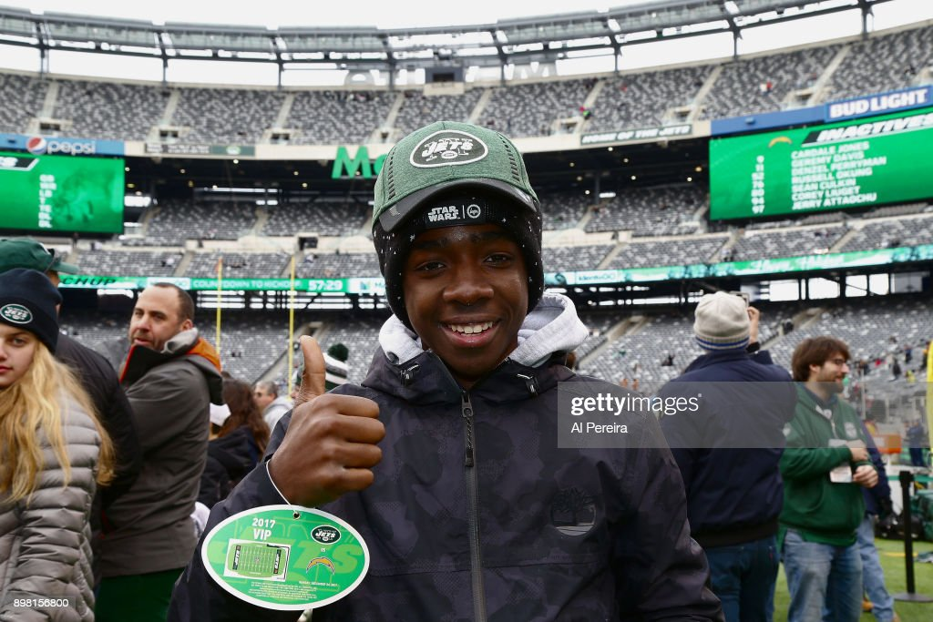 Actor Caleb McLaughlin attends the Los Angeles Chargers vs New York Jets game at Met Life Stadium on December 24, 2017 in New York City.