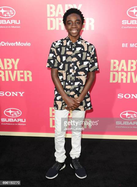 """Actor Caleb McLaughlin attends the premiere of """"Baby Driver"""" at Ace Hotel on June 14, 2017 in Los Angeles, California."""