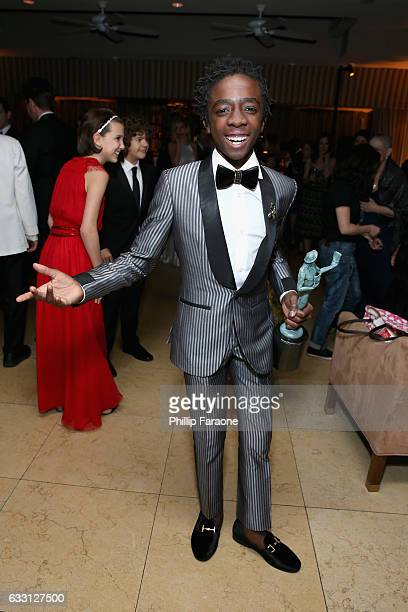 Actor Caleb McLaughlin attends The Weinstein Company Netflix's 2017 SAG After Party in partnership with Absolut Elyx at Sunset Tower Hotel on January...
