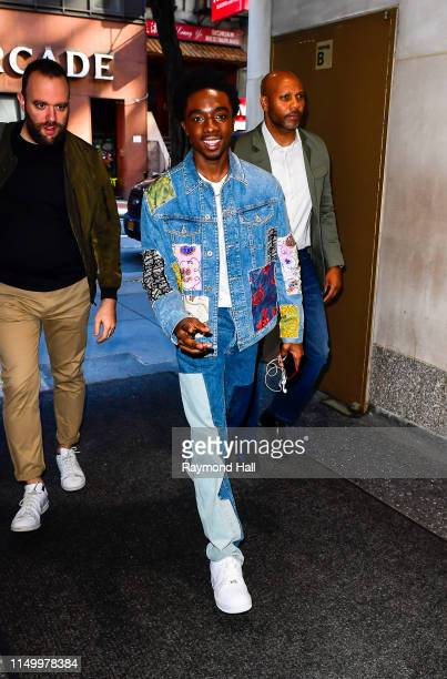 Actor Caleb McLaughlin is seen outside the today show on June 14, 2019 in New York City.