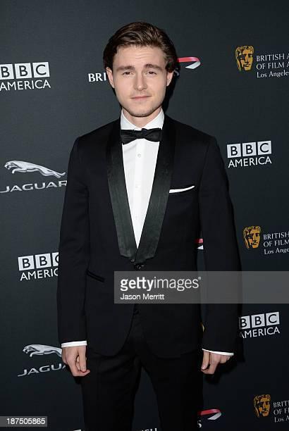 Actor Callan McAuliffe attends the 2013 BAFTA LA Jaguar Britannia Awards presented by BBC America at The Beverly Hilton Hotel on November 9, 2013 in...