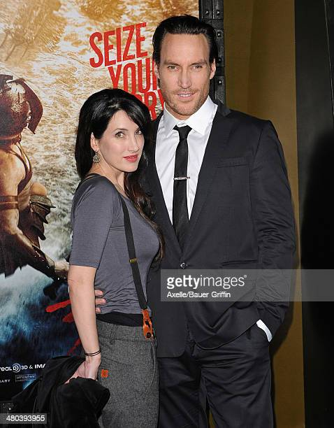 Actor Callan Mulvey and wife Rachel Thomas arrive at the '300 Rise of an Empire' Los Angeles premiere at TCL Chinese Theatre on March 4 2014 in...