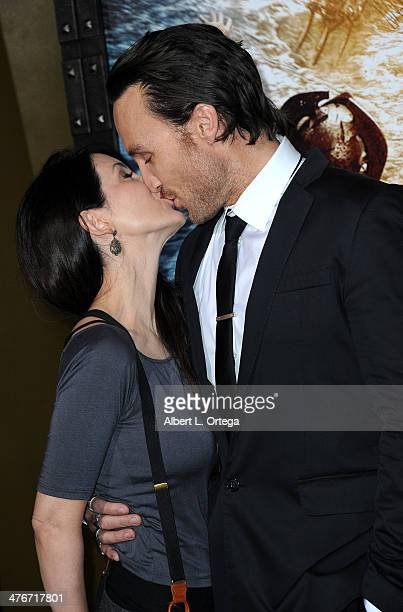Actor Callan Mulvey and wife Rachel Thomas arrives for the Premiere Of Warner Bros Pictures And Legendary Pictures' '300 Rise Of An Empire' held at...
