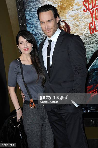 Actor Callan Mulvey and wife Rachel Thomas arrives for the Premiere Of Warner Bros Pictures And Legendary Pictures' 300 Rise Of An Empire held at TCL...