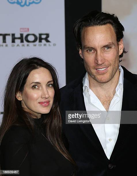 Actor Callan Mulvey and wife Rachel Thomas attend the premiere of Marvel's Thor The Dark World at the El Capitan Theatre on November 4 2013 in...