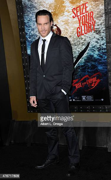 Actor Callan Mulvey arrives for the Premiere Of Warner Bros Pictures And Legendary Pictures' '300 Rise Of An Empire' held at TCL Chinese Theatre on...