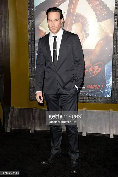 Actor Callan Mulvey attends the premiere of Warner Bros Pictures and Legendary Pictures' '300 Rise Of An Empire' at TCL Chinese Theatre on March 4...