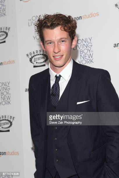 Actor Callum Turner attends The Only Living Boy In New York New York Premiere at The Museum of Modern Art on August 7 2017 in New York City
