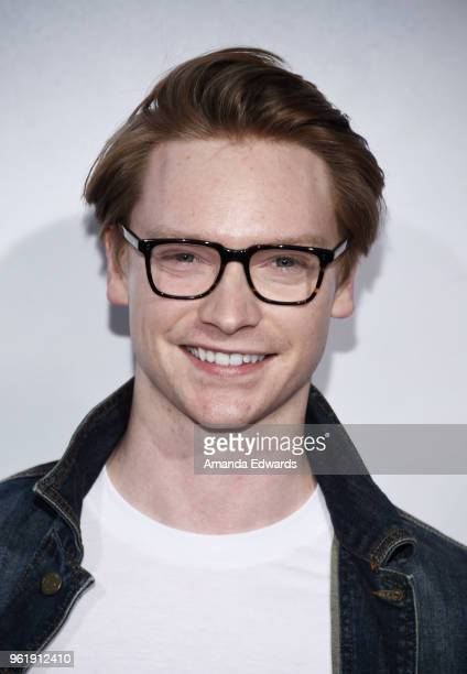 Actor Calum Worthy arrives at the premiere of STX Films' Adrift at the Regal LA Live Stadium 14 on May 23 2018 in Los Angeles California