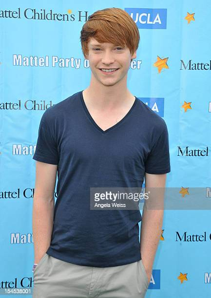 Actor Calum Worthy arrives to the 'Mattel Party on the Pier' benefiting Mattel Children's Hospital UCLA at Pacific Park on the Santa Monica Pier on...