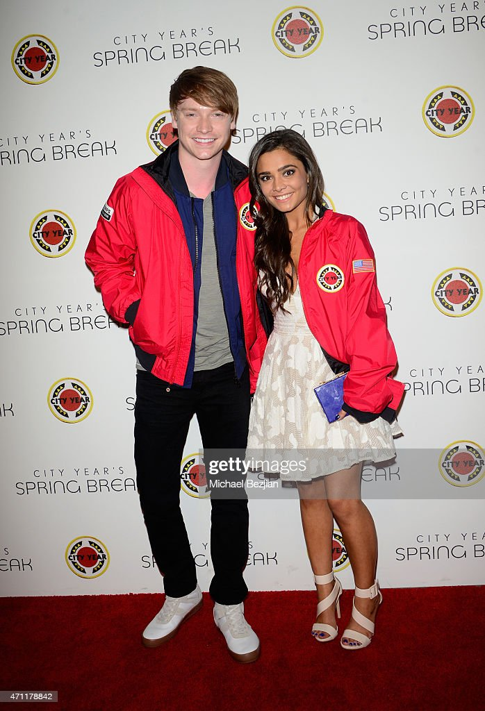 Actor Calum Worthy (L) attends City Year Los Angeles Spring Break at Sony Studios on April 25, 2015 in Los Angeles, California.
