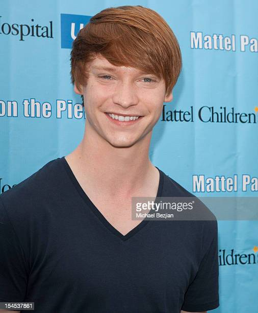 Actor Calum Worthy attends Mattel Party On The Pier Benefiting Mattel Children's Hospital UCLA Red Carpet at Pacific Park at Santa Monica Pier on...