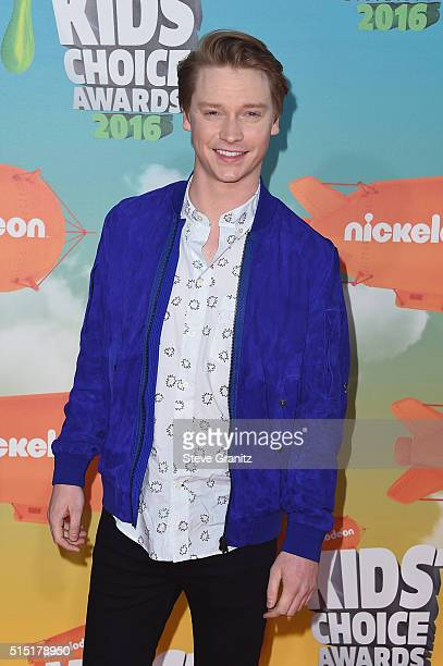 Actor Calum Worthy attends Nickelodeon's 2016 Kids' Choice Awards at The Forum on March 12 2016 in Inglewood California