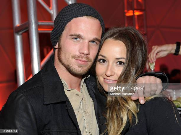 Actor Cam Gigandet and actress Dominique Geisendorff attends the BlackBerry VIP Hospitality Lounge at the U2 Concert at the Rose Bowl on October 25...