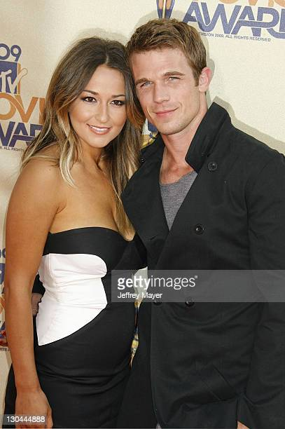 Actor Cam Gigandet and Dominique Geisendorff arrive at the 2009 MTV Movie Awards at the Gibson Amphitheatre on May 31 2009 in Universal City...
