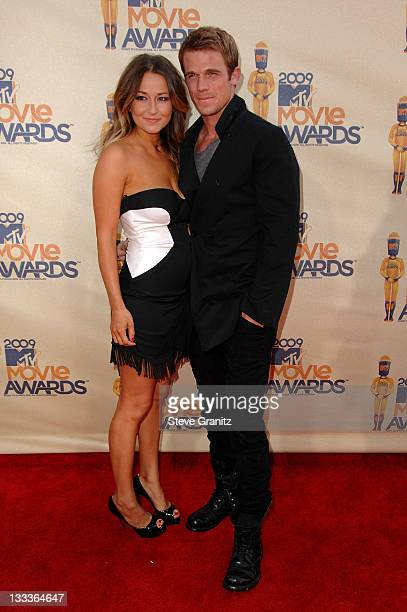 Actor Cam Gigandet and Dominique Geisendorff arrive at the 2009 MTV Movie Awards held at the Gibson Amphitheatre on May 31 2009 in Universal City...