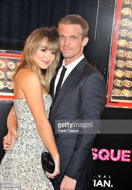 Actor Cam Gigandet and Dominique Geisendorff arrive at the premiere of Screen Gems' Burlesque held at Grauman's Chinese Theater in Hollywood