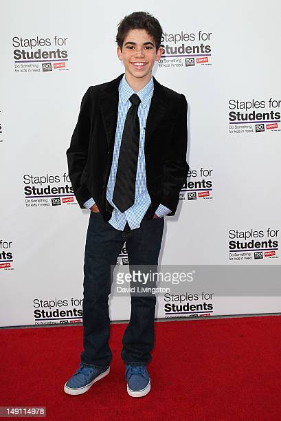 Actor Cameron Boyce attends the 2012 Staples For Students Party For A Cause hosted by Staples DoSomethingorg and Bella Thorne at the Globe Theatre at...