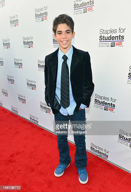 Actor Cameron Boyce attends the Staples DoSomethingorg Bella Thorne Party for the 5th Staples for Students School Supply Drive benefiting students in...