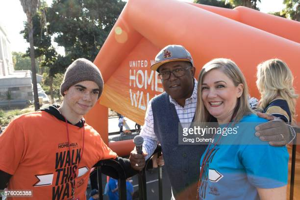 Actor Cameron Boyce Disney Channel Elise Buik President and CEO of United Way of Greater Los Angeles and Board of Supervisors Chairman Mark...