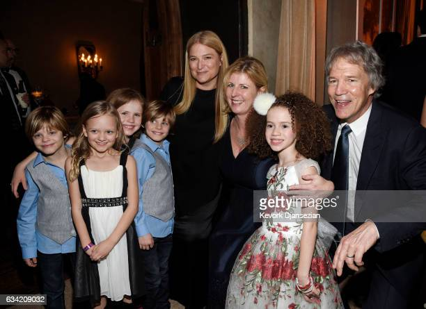 Actor Cameron Crovetti Ivy George Darby Camp Nicholas Crovetti and Chloe Coleman poses Bruna Papandrea Liane Moriarty author of the book 'Big Little...