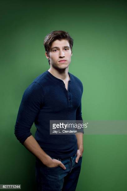 Actor Cameron Cuffe from the television movie 'Krypton' is photographed in the LA Times photo studio at ComicCon 2017 in San Diego CA on July 22 2017...