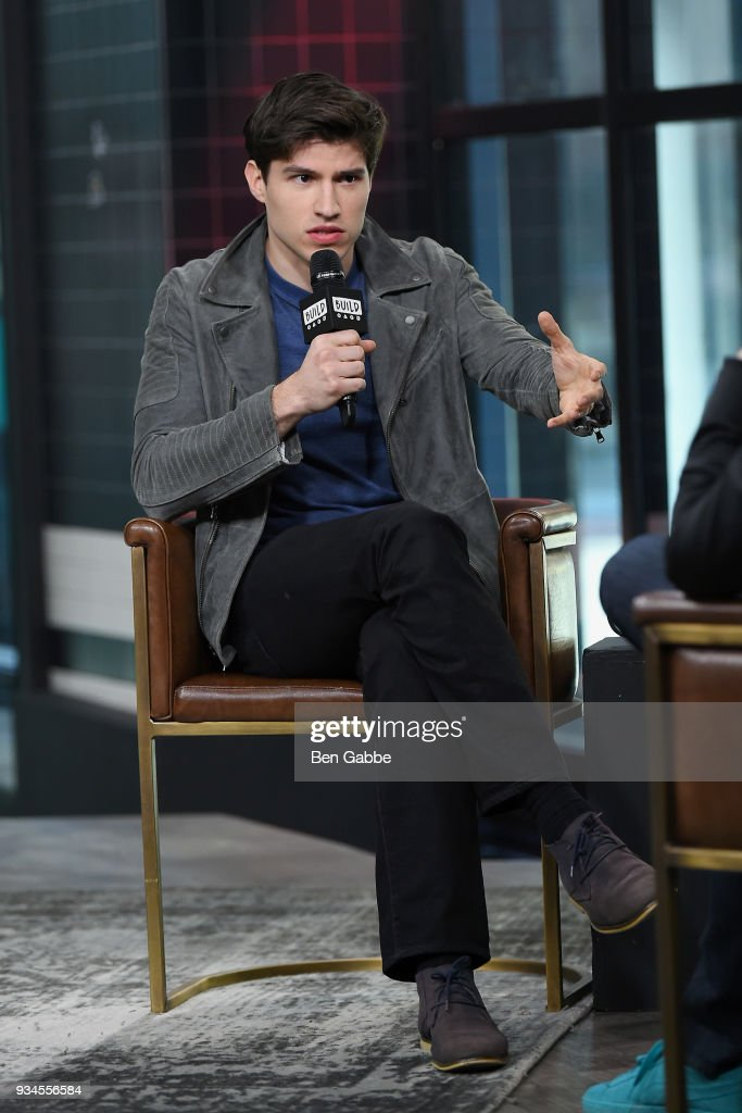 Actor Cameron Cuffe visits the Build Series to discus the new TV show 'Krypton' at Build Studio on March 19, 2018 in New York City.