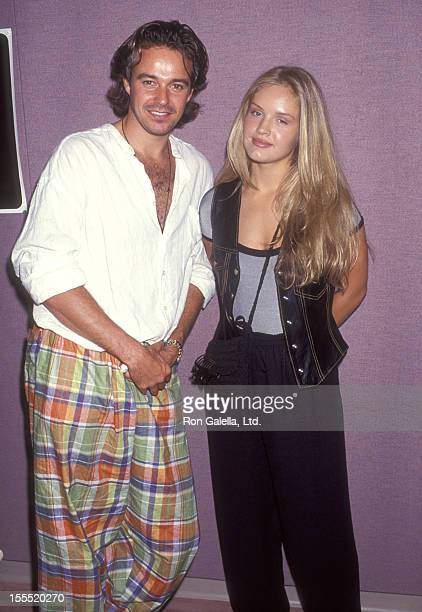 Actor Cameron Daddo and actress Cassidy Rae attend the InStore Appearance by Cast of Models Inc on August 13 1994 at Sawgrass Mills Mall in Fort...