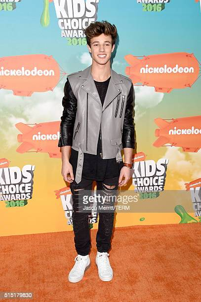 Actor Cameron Dallas attends Nickelodeon's 2016 Kids' Choice Awards at The Forum on March 12 2016 in Inglewood California