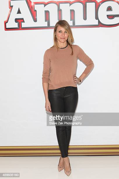 Actor Cameron Diaz attends 'Annie' Cast Photo Call at Crosby Street Hotel on December 4 2014 in New York City